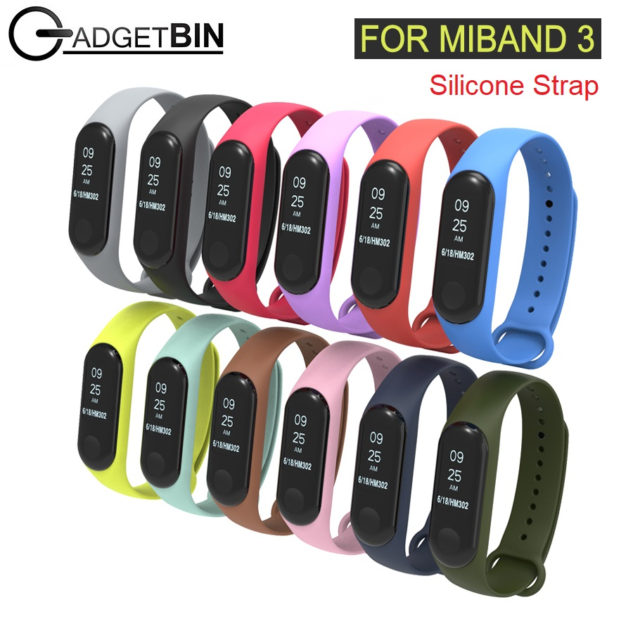 Xiaomi Miband 3 Strap Colourful Silicone Replacement Strap for MiBand 3 MiBand3 Bracelet