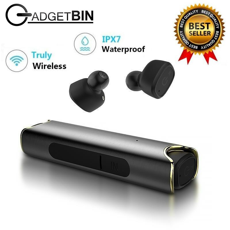 Gadgetbin TWS S2 Wireless Bluetooth Mini Waterproof Twins Stereo Earbuds Headset With Mic