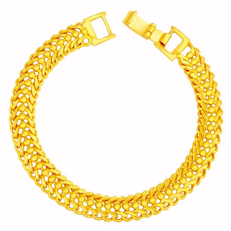 YOUNIQ Premium Charming 24K Gold Plated Classic Chain Bracelet