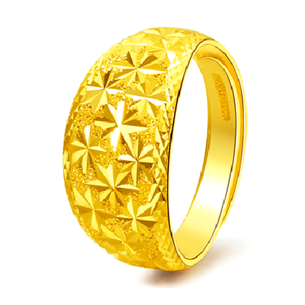 YOUNIQ Premium Classical 24K Gold Plated Ring