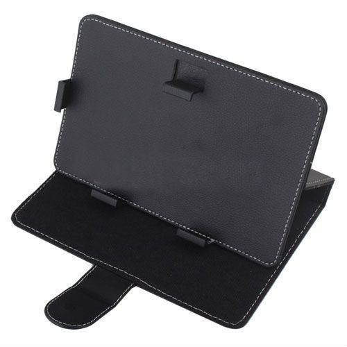 "Quality Leather Case for 9"" Tablet (Black)"