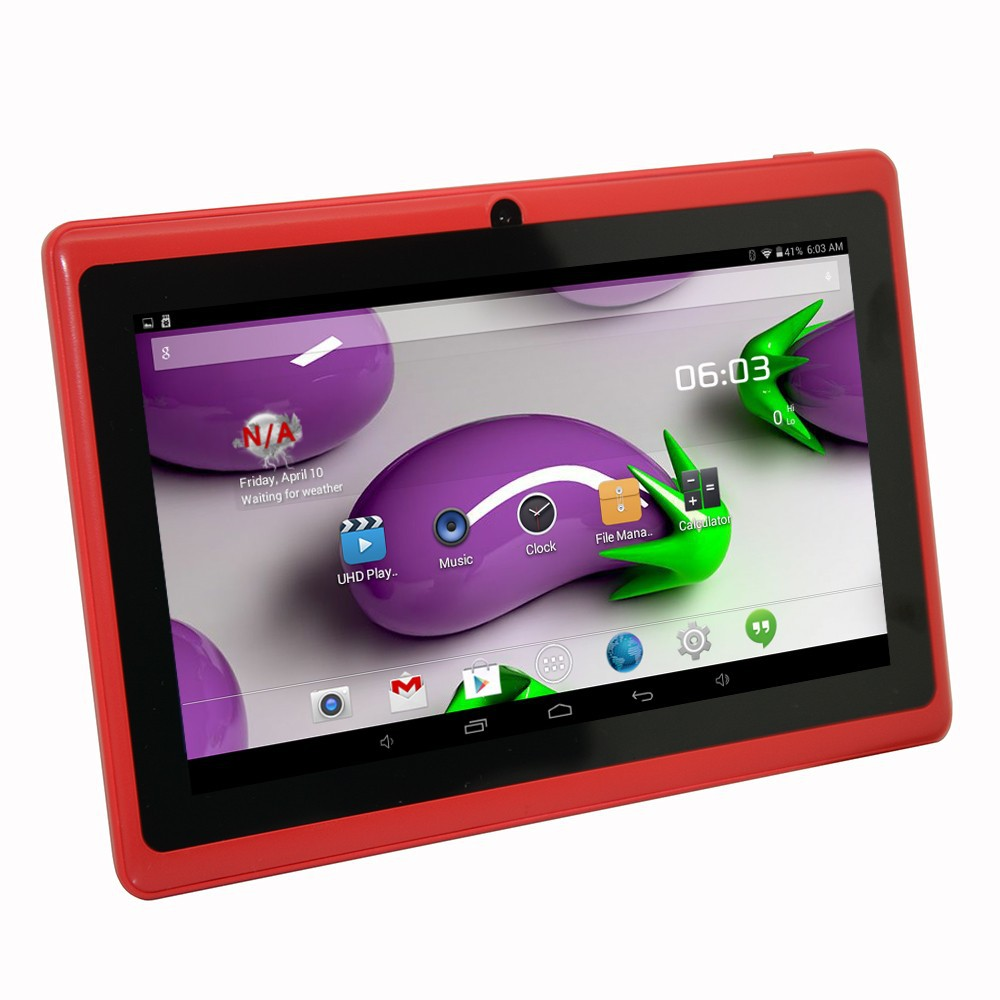 7 Inch Ewing Monster A33 Quad Core 1.5gHz 8GB Bluetooth Dual Camera Android 4.4 Tablet (Red)
