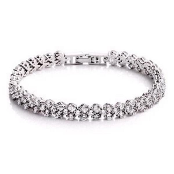 YOUNIQ Dazzling Platinum Plated Silver Bracelet