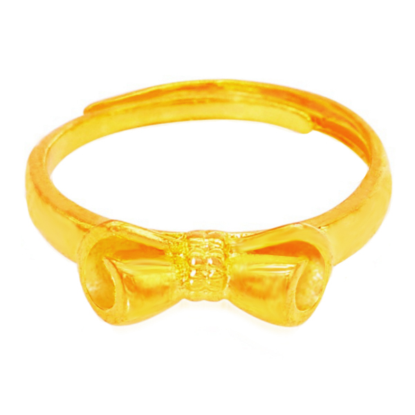 YOUNIQ Premium Ribbon 24K Gold Plated Ring