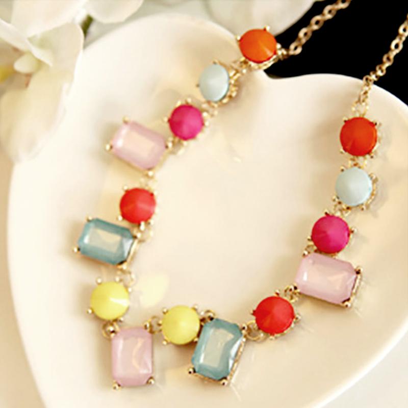 YOUNIQ-Basic Candy Bohemian Women Necklace