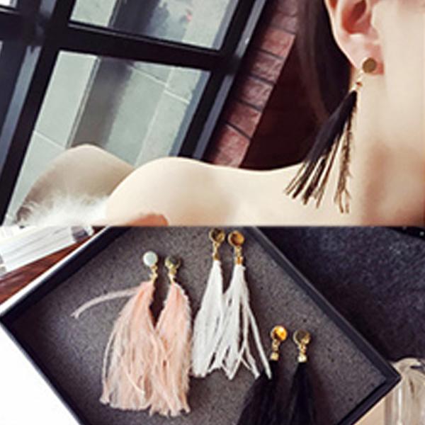 YOUNIQ-Basic Korean Fur Bi Earring- 3 color option