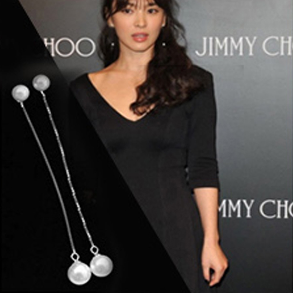 YOUNIQ-Basic Korean Pearl Long Earring