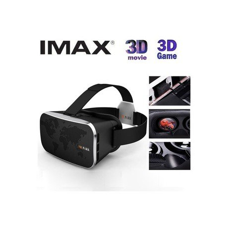 Ewing VR Park V2 3D Virtual Reality Glasses for Game and Movie (Black)