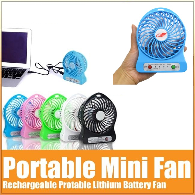 Portable Rechargeable 3 Speed Mini Leaf Fan with LED light
