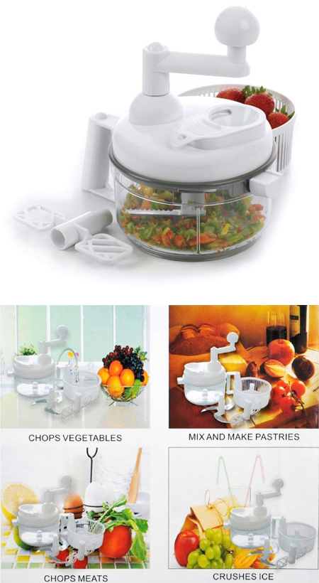 Swift Chopper Manual Food Processor Food Chopper Salad Spinner