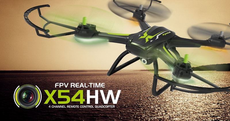 Syma X54HW FPV With 720P HD Camera 2.4G 4CH 6Axis Altitude Hold RC Quadcopter (Black)