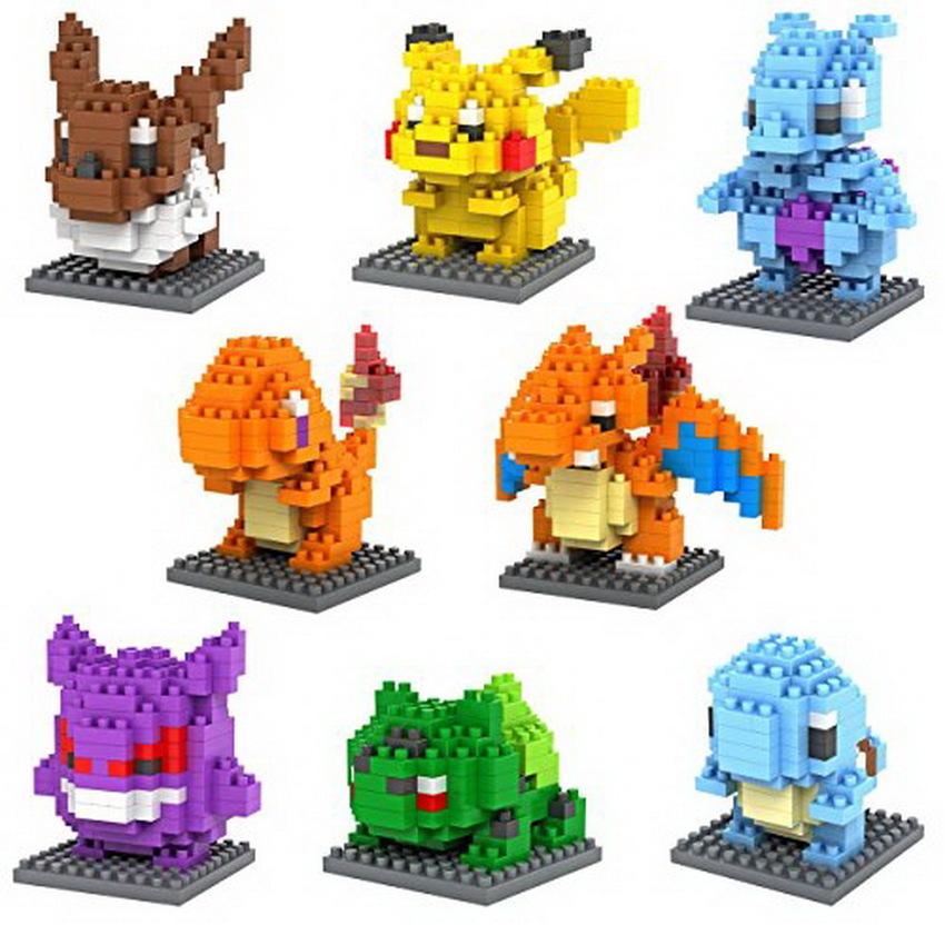 Building Toy Nano Block Mini Diamond Set of 8 Pcs - Pokemon