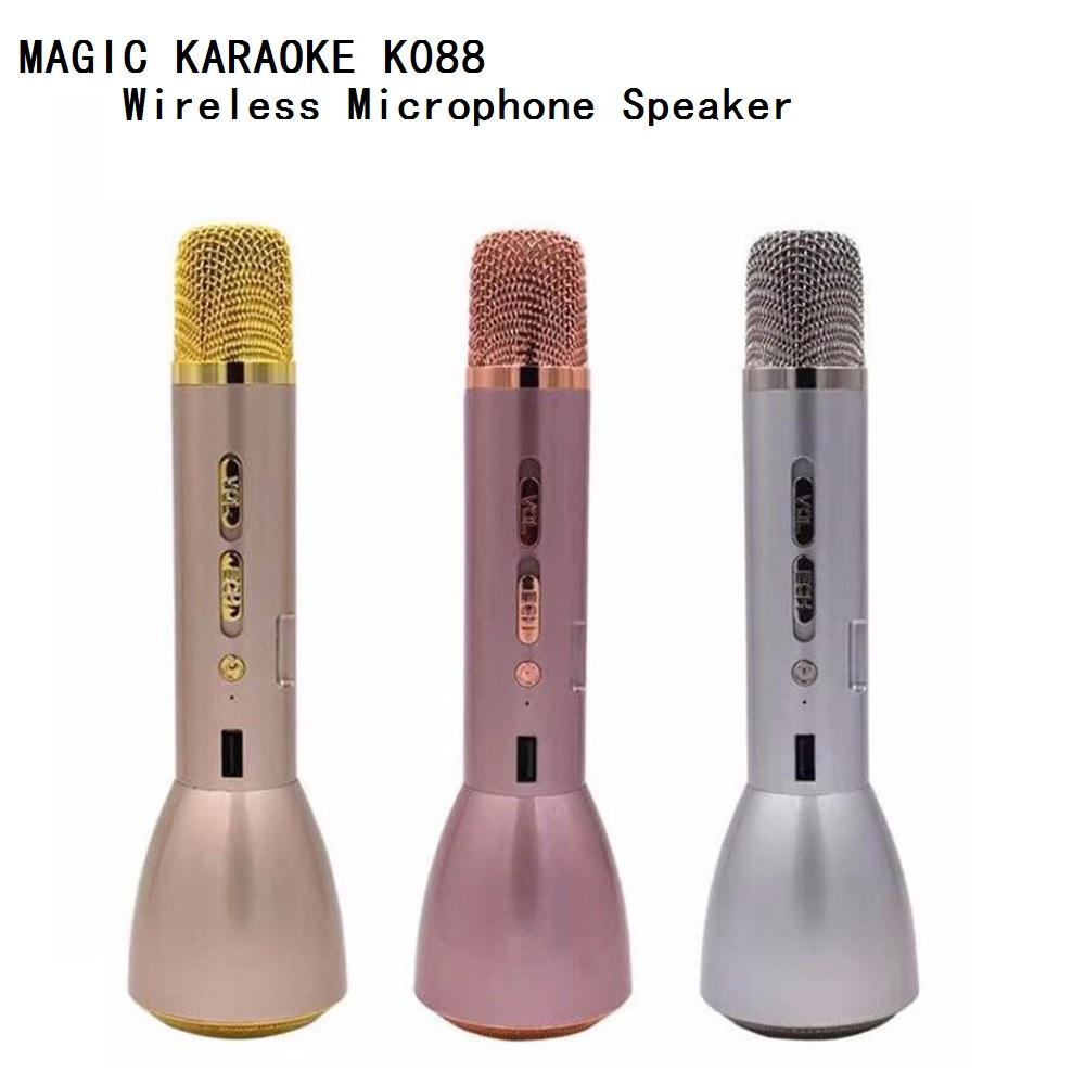 Magic Karaoke K088 Wireless Portable Bluetooth Microphone Speaker KaraoKe Recorded