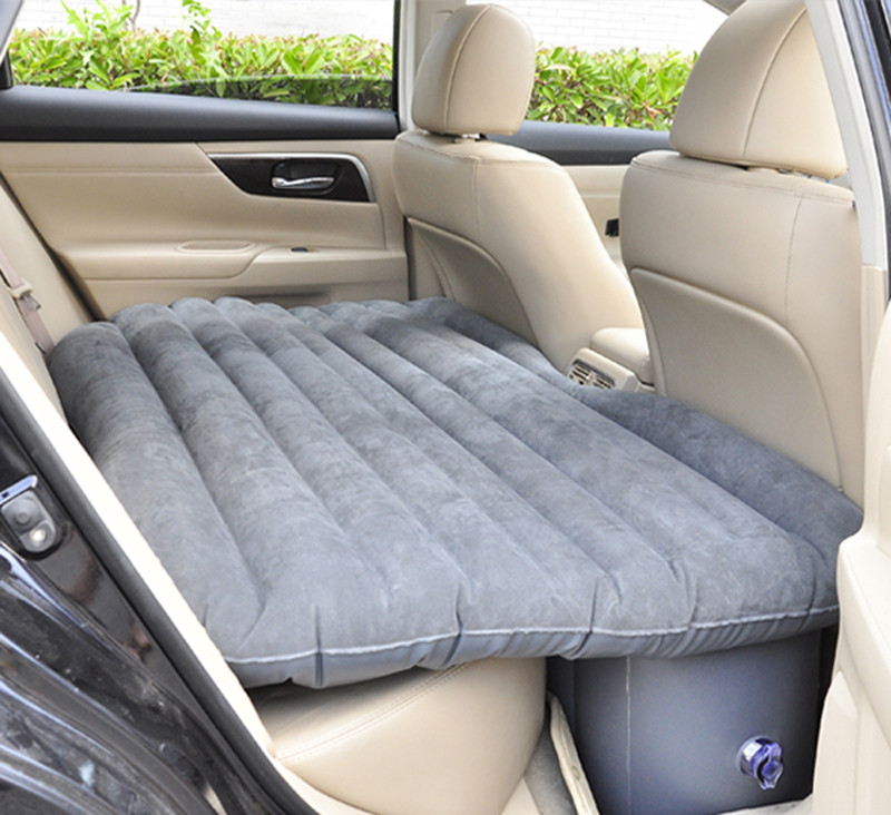 Inflatable Car Bed Car Mattress for Backseat (Grey)