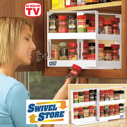 Swivel Store Space Saving Spice Organiser