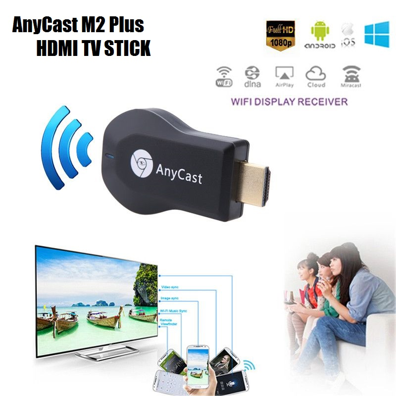 Anycast M2 Plus DLNA Airplay WiFi Display Miracast TV Dongle Stick HDMI Receiver For Smart Phone Tablet PC