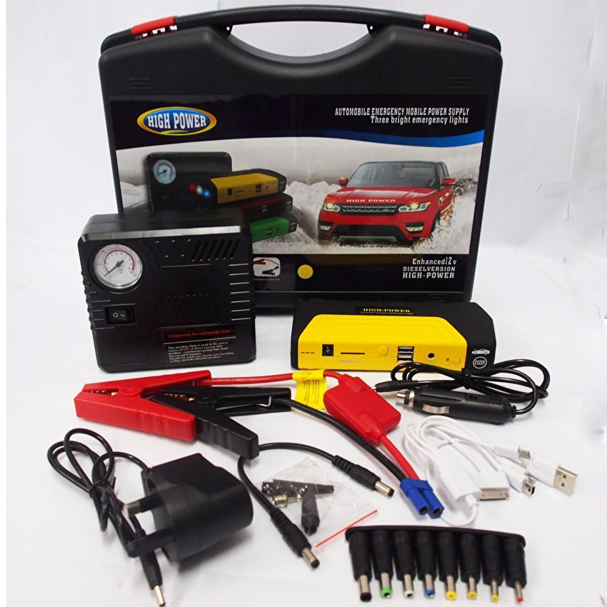 HIGH POWER Jump Start Car 50800mAh Power Bank & Tire Inflate device (Emergency mobile power supply)