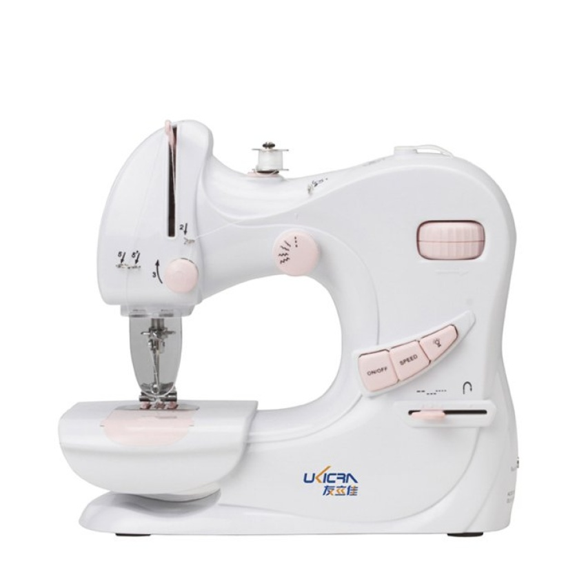 UKICRA UFR-601 Multi-Function Portable Mini Sewing Machine with Built-in Light