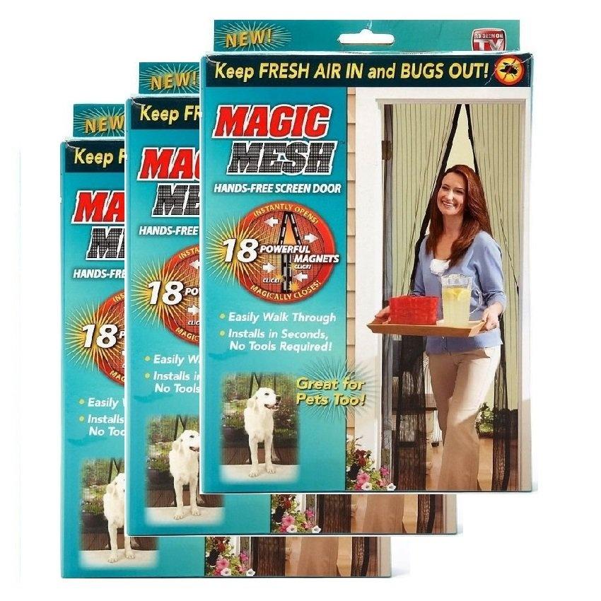 3 Set Magic Mesh Screen Door Magnetic Anti Mosquito Bug Doors Curtain Net