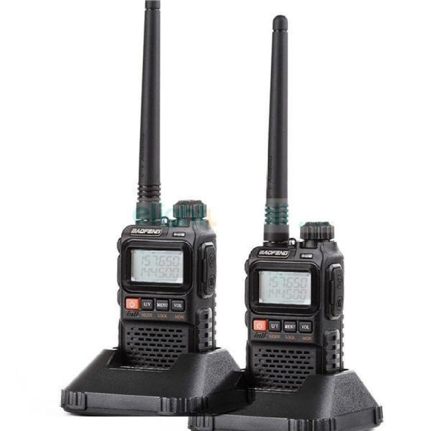Baofeng Mini Pocket Walkie Talkie Uhf Vhf Radio Mark III Uv-3R+ 1 Set 2 Pcs