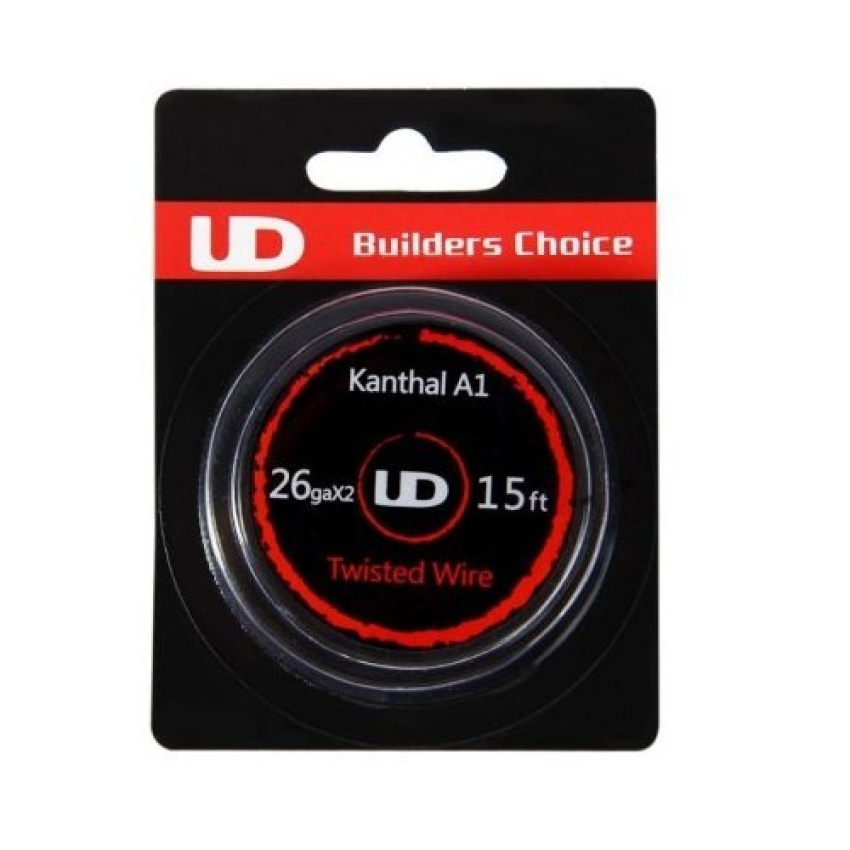 Youde UD Kanthal A1 Twisted Wire for Rebuildable Atomizers 26gaX2 15Ft