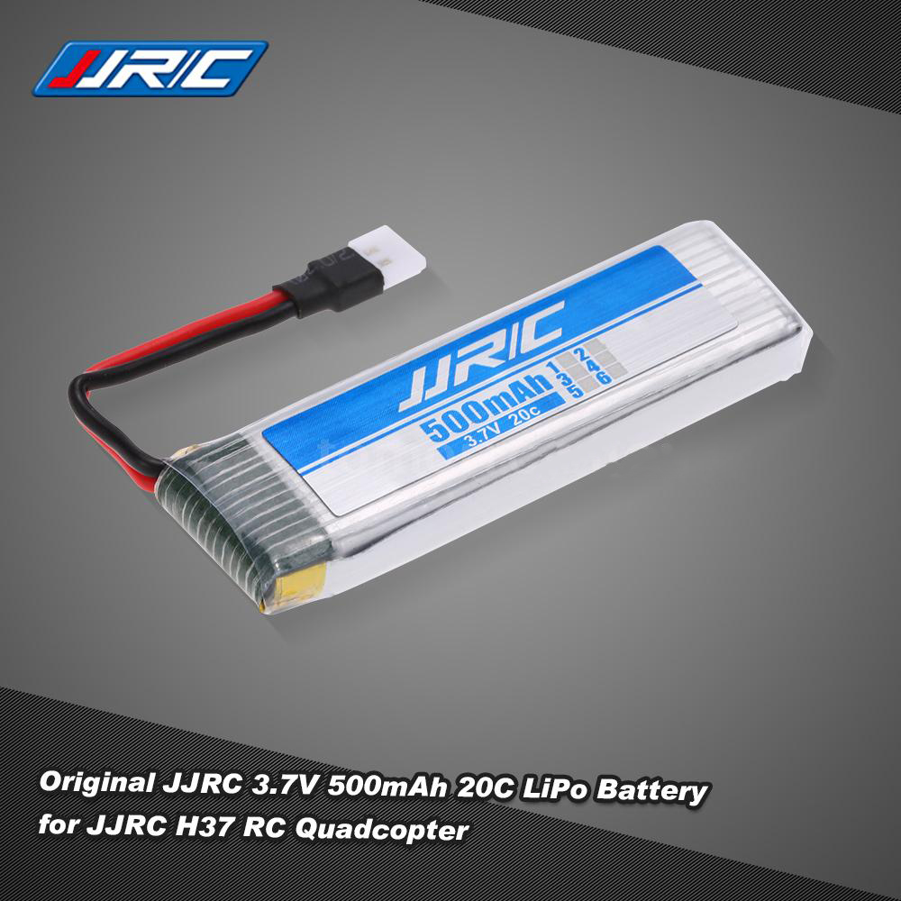 Original JJRC 3.7V 500mAh 20C LiPo Battery for JJRC H37 Selfie RC Quadcopter Drone