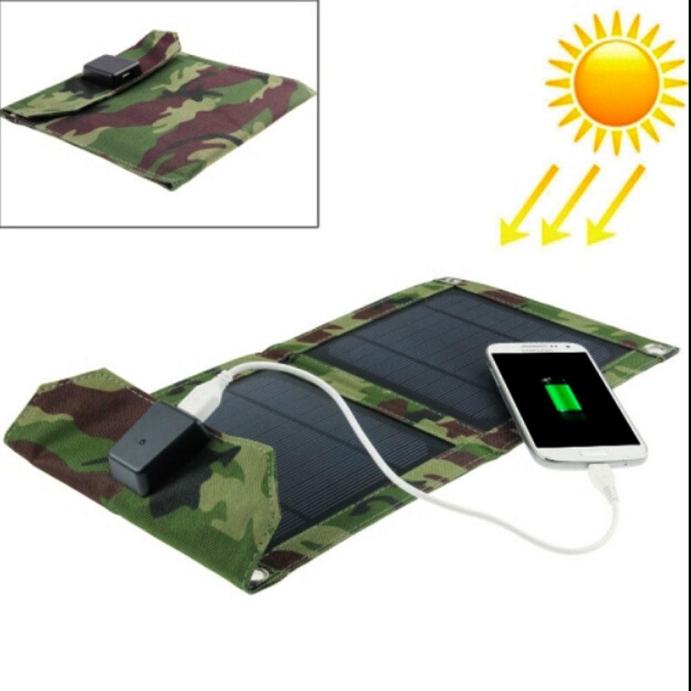 EWING Portable Foldable Outdoor 2 Solar Panel Charger Cover Solar Powerbank