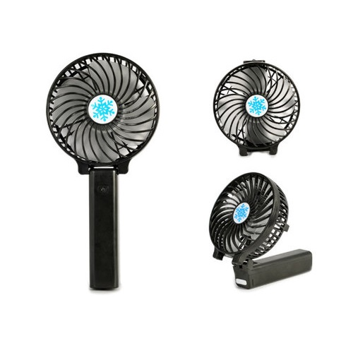 Portable Rechargeable 2 in 1 Handheld & Standing Strong Wind Mini Fan (Green)