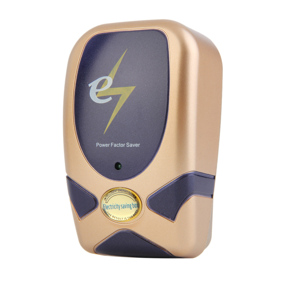 (Msia Plug) Gadgetbin 28KW Power Factor Saver Electricity Saving Box Save Electric Bill Energy (Gold)